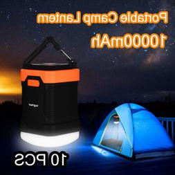 10PCS LED Camping Lantern light Rechargeable Dimmable 10000m