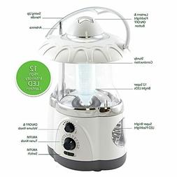 Northpoint 12-LED Lantern with 4-LED Flashlight and AM/FM Ra