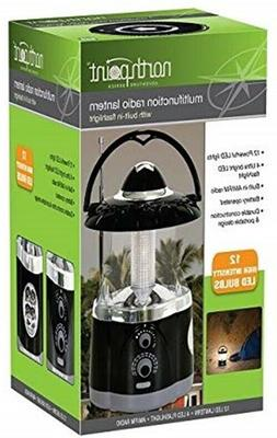 NORTHPOINT - 12-LED Lantern with 4-LED Flashlight and AM/FM