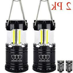 2 Gold Armour 350lm Battery Operated Powered COB LED Light C