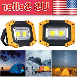 2-Pack LED Floodlight Rechargeable COB Work Light Portable 3