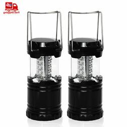 2 Pack Portable Outdoor Collapsible 30 LED Camping Lantern B