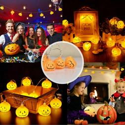 20/30LED Pumpkin String Fairy Lights Lantern Lamp Party Home
