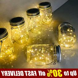 2M 20LEDs Battery / Solar Powered Glass Mason Jar Lights Str