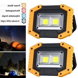 2pack 30w portable usb rechargeable cob led