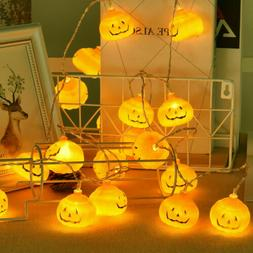 LED Pumpkin String Fairy Lights Lantern Lamp Party Home Prop