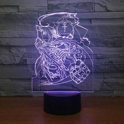 3D Fullmetal Alchemist Night Light LED Table Desk Lamp Home