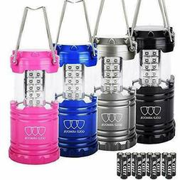 Gold Armour 4 Pack LED Camping Lantern Portable Flashlight w