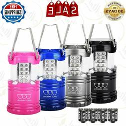 4 Pack LED Camping Portable Flashlight with 12 AA Batteries