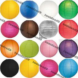 """6x 12x Round 12"""" Color Paper Lanterns with LED Light Wedding"""