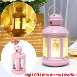 Battery Operated LED Lantern Night Light DIY Lampshade Lante