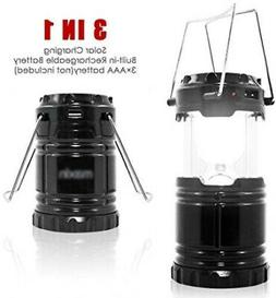 Battery/Solar Powered Portable Rechargeable LED Lantern+Powe