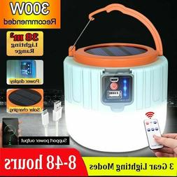 Bright Remote Control Solar LED Camping Lamp Rechargeable Li