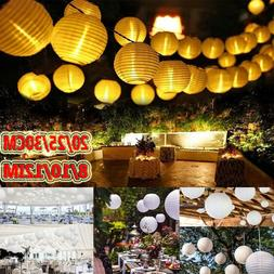 Chinese Lantern 8/10/12'' Solar Patio Party Outdoor LED Ligh