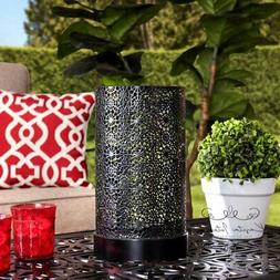 Sunjoy Contemporary Large Black Battery Powered LED Outdoor