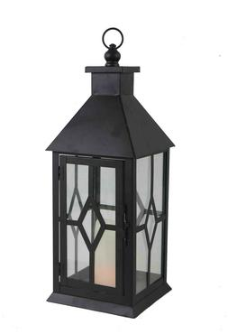 American Mantle Decorative Candle Lantern; Flameless LED Can