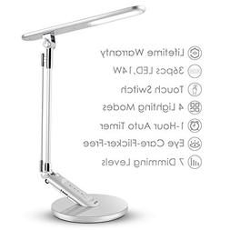 JUKSTG Desk Lamp, 36pcs LEDs 14W 7 Dimming Levels Table Lamp