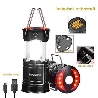 2 pk rechargeable led lanterns 4 in