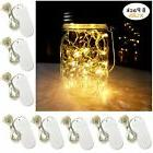 Yitee Battery Powered Mason Jar Lantern Lights,8 Pack Warm W