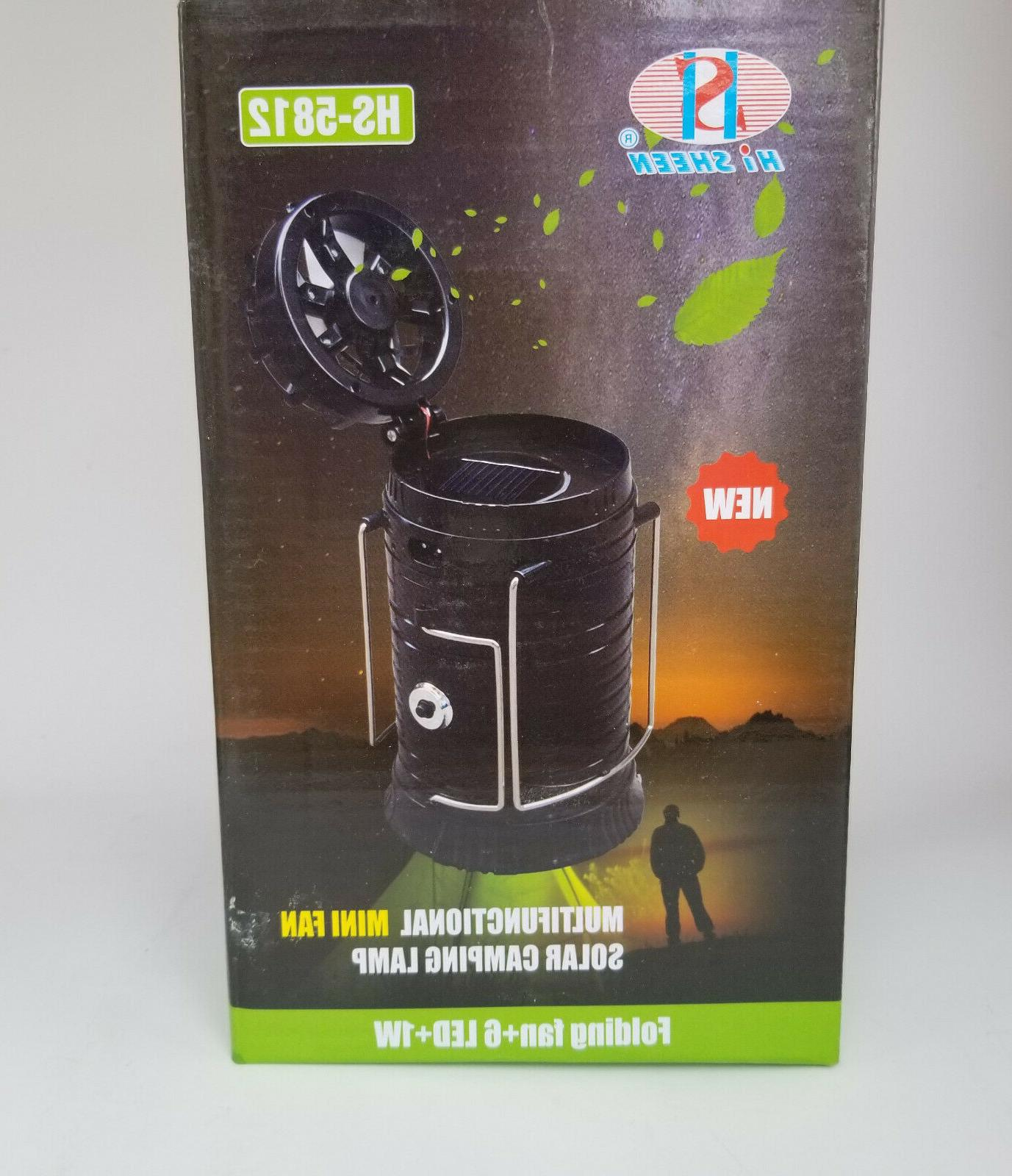 large led solar rechargeable lantern camping lamp