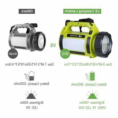 LE Rechargeable Lantern, 3600mAh Power 1000lm