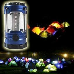 Lantern 12 LED Battery Operated Blue Plastic Casing High Low