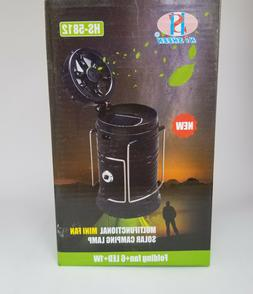 Large LED Solar Rechargeable Lantern Camping Lamp With Fan A