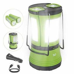 LE LED Camping Lantern Rechargeable, 600LM, Detachable Flash