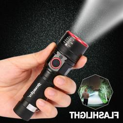 Led flashlight 18650 Rechargeable USB linterna torch T6 Zoom