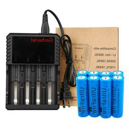 Lot 18650 Battery Li-ion 3.7V Rechargeable Charger For LED F