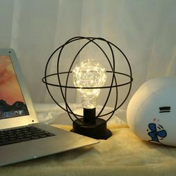 Metal Middle Century Light LED Battery Operated Lamp Globe T