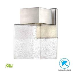 Outdoor Exterior Light LED Wall Lantern Bubble Seeded Glass