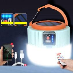 Outdoor LED Solar Charging Remote Control Tent Light Emergen