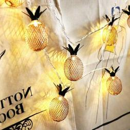 LED Wedding Party Fairy String Lamp Outdoor Decor Pineapple