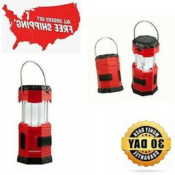 Portable LED Camping Lantern Solar USB Rechargeable or 3 AA