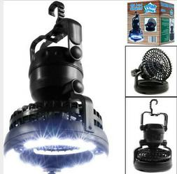Portable LED Camping Lantern with Ceiling Fan 2-In1 Outdoor
