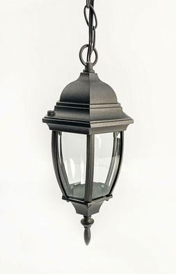CORAMDEO Small Curved Hex Pendant Mount LED Lantern for Porc