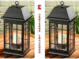 Solar Candle Lantern Hanging Lamp LED Table Light Home Garde