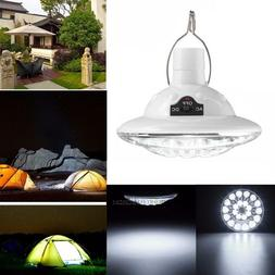 Solar Powered 22 LED Dimmable Flashlight Camping Light Lante