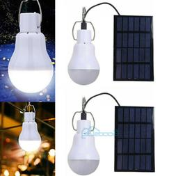 2X Solar Power Rechargeable LED Bulb Camping Tent Light Lant