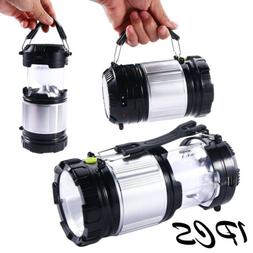 Solar Power Rechargeable LED Flashlight Camping Fishing Tent