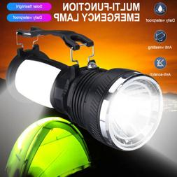 Solar Power Rechargeable LED Flashlight Camping Tent Lights