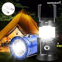 Solar Powered LED Camping Lantern Chargeable Collapsible Eme