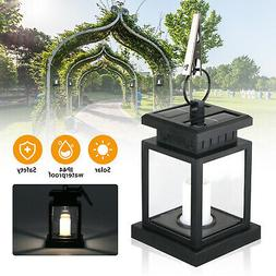 Solar Powered LED Candle Lights Table Lantern Hanging Garden