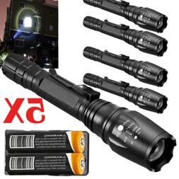 Tactical Police High-Lumens T6 LED Zoomable Flashlight Alumi